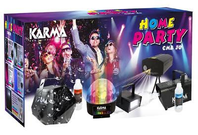 Karma CMB 30 Kit Home party 3 lighting effects, smoke machine, bubble machine AU