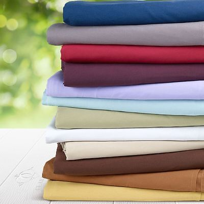 """Real 800TC 100% Egyptian Cotton Ultra Soft Solid 4PC Sheet Set 17""""Deep CA Size"""