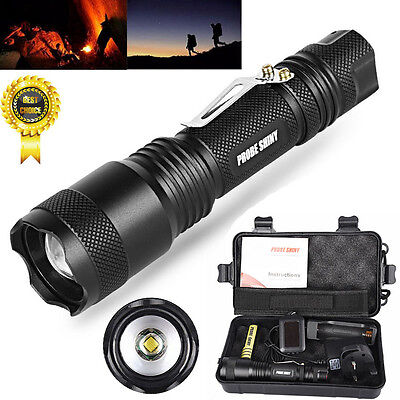 X800 Shadowhawk 6000LM Zoomable XML T6 LED Tactical Flashlight  18650 Battery US