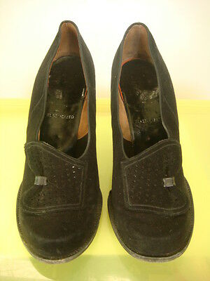 """Original Vintage 1940's """"Town Walker"""" by Selby Suede Shoes Size UK 4?"""