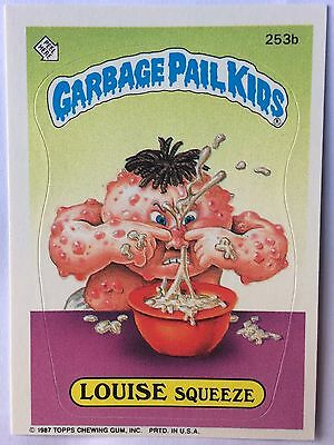 Louise Squeeze 253b Garbage Pail Kids US 7th Series (1987) Sticker/Vintage/Mint