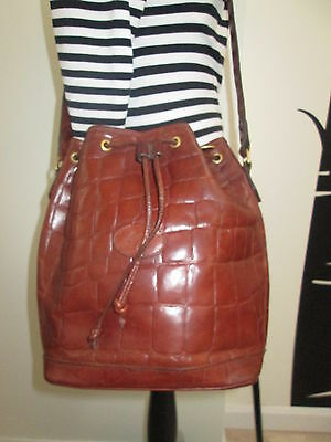 Authentic Vintage  Mulberry Brown Congo Leather Small Sharpham Hobo Shoulder Bag