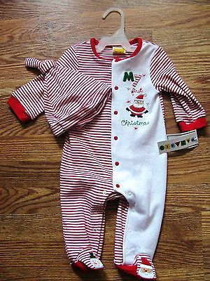 My first Christmas 2 piece sleep'n'play by Mayfair 3-6 months NWT