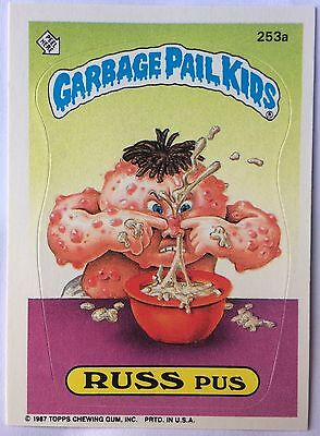 Russ Pus 253a Garbage Pail Kids US 7th Series (1987) Sticker/Vintage/Mint