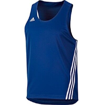 Adidas Base Punch Boxing Vest Top Blue/white Size Adult  Xl Bnwt