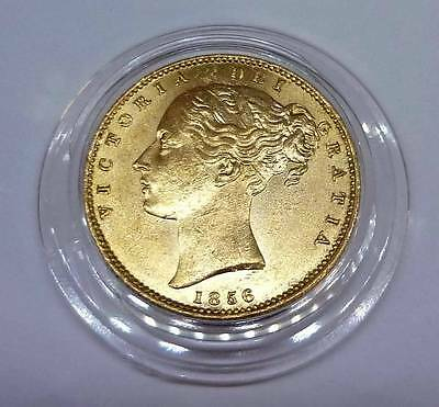 1856 Shield Queen Victoria Gold Full Sovereign Coin