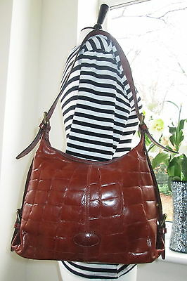 Authentic Vintage  Mulberry Brown Congo Leather Shoulder Hand  Bag