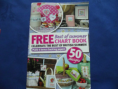 Best Of Summer Chart Booklet 50 Fab Designs 4 Backing Papers Cross Stitch Chart