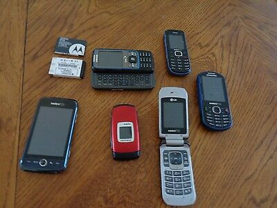 Lot of 6 cell phones 1 is a  smart phone Samsung,LG,Nokia,Metro PCS