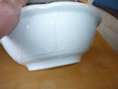 Antique bathroom water bowl in white Royal Ironstone China
