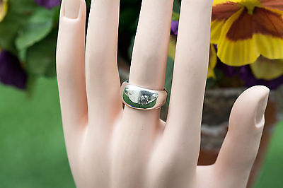Sterling silver ring/band handcrafted plain design woman jewelry size 7.5