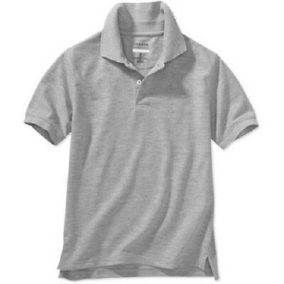 George Boys' School Uniform Short Sleeve Polo, XLarge (14-16), Grey Heather