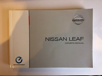 2011 Nissan Leaf owner's manual in mint condition