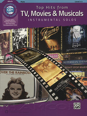 Top Hits from TV, Movies & Musicals Flute Sheet Music Book & CD Instrumental