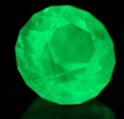UV gems: Excellent faceted 3.25 ct. Hyalite opal from Hungary, Monok With VIDEO!