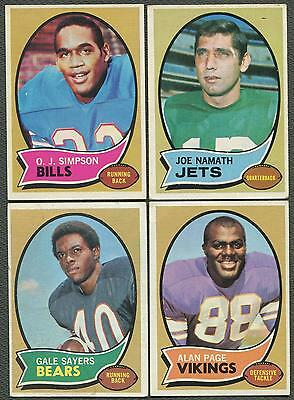 1970 Topps Football Partial Set (EX-MT)