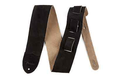 "Fender ""F"" Suede Strap: Available in Black & Tan"