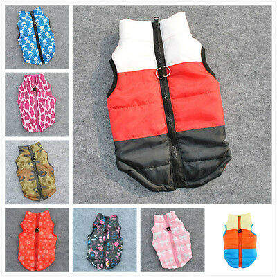 Cat Dog Pet Clothing Soft Padded Vest Harness Jacket Small Dog Cute Coat New
