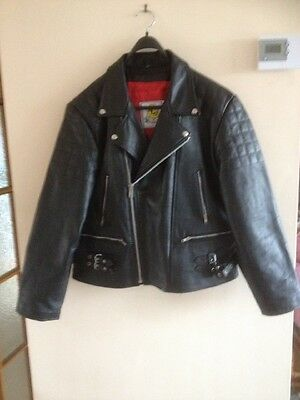 Mens motorcycle leather jacket 4XL