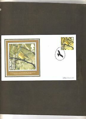 Gb Stamps Rare Cirl Bunting Benham Cover Stamps 2007