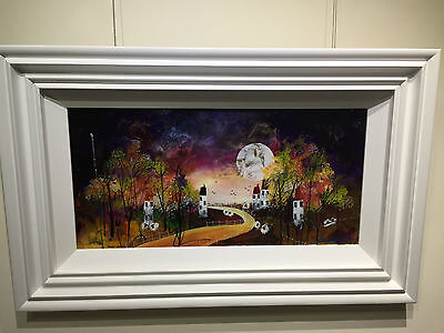 Harvest Moon I by Rozanne Bell, Original Mixed Media
