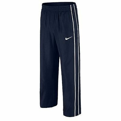 NIKE boys/Junior lined WOVEN tracksuit bottoms pants L M BLUE LINING warm & dry