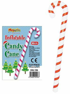 Inflatable Candy Cane Christmas Decoration Xmas Fancy Dress Costume 90cm
