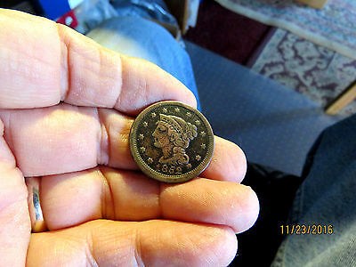Scarce 1852 United States Large Cent  Nice Collectable Coin #1