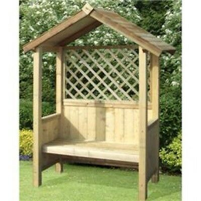 New High Quality Fsc Pressure Treated Wooden Garden Arbour Seat Bench