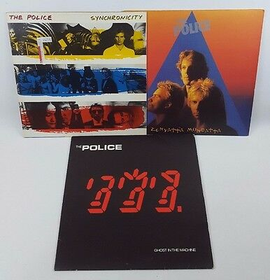 Police Ghost In The Machine Synchronicity Zenyatta Mondatta Vinyl 3 X LP Bundle
