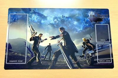 F1169# Free Mat Bag FFXV Final Fantasy Trading Card Game Custom Playmat Rubber