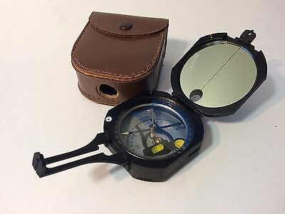 Tamaya Pocket Transit Compass in Case Excellent Condition