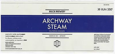 BRICK Bry ARCHWAY STEAM California Common Beer Label