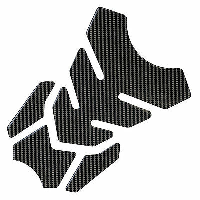 Ryde 4 Piece Motorbike Petrol/fuel Tank Pad Motorcycle Carbon Scratch Protector