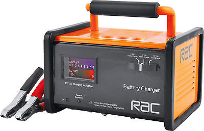 12V & 6V RAC Car Battery Charger With 12V/12A Fast Charge