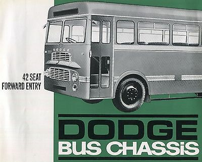 Sales brochure,  Dodge  42 seat bus  chassis, 1962