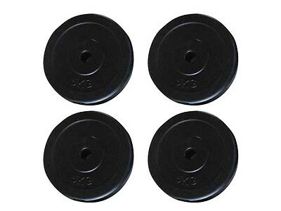 #sNEW SET OF FOUR 5KG WEIGHT PLATES EXERCISE FITNESS BARBELL PLATE