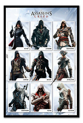 Assassins Creed Compilation Poster Magnetic Notice Board Includes Magnets