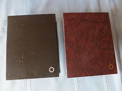 Franklin Covey Planner Storage Case Set of 2  Brown & Black  Compact Size