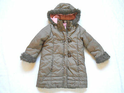 Adams Girls Brown Raincoat With Pink Fleece Inner Age 3 - 4 Years