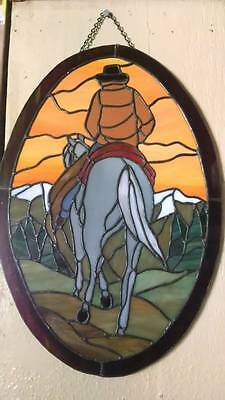 Beautiful Hand Crafted Horse Stain Glass   12 x 19