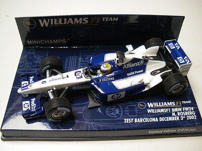 "Minichamps 1/43 Williams FW24 ""Testcar 02"" Nico Rosberg"