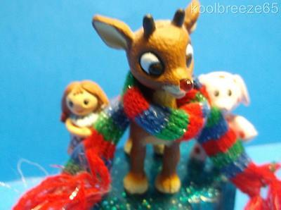 Carlton Cards A MERRY MISFIT CHRISTMAS Ornament Rudolph Nose Lights Dolly Polka