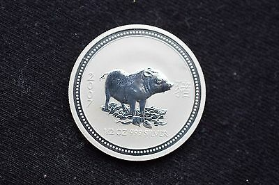 2007 1/2 oz Silver Lunar Year of the Pig (Series I)