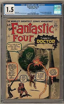 Fantastic Four #5 CGC 1.5 1st Appearance and Origin of Dr. Doom