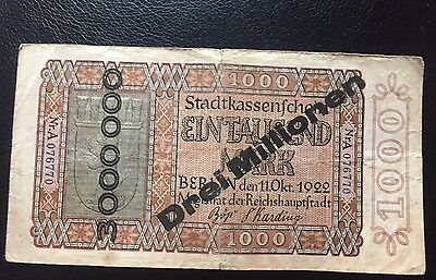 Germany Old Banknote With Overprinted AVF