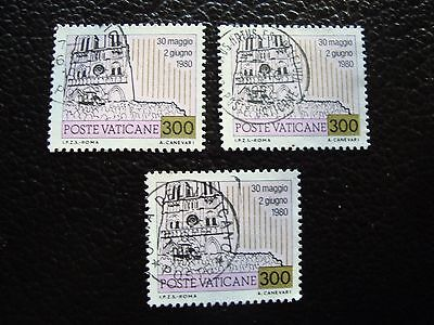 VATICAN - timbre yvert et tellier n° 721 x3 obl (A28) stamp (E)