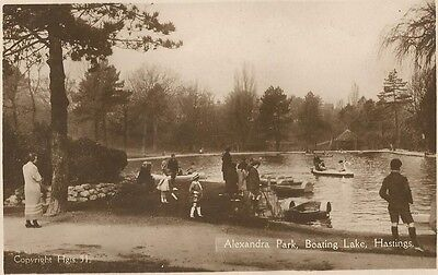 Hastings Sussex , Alexandra park boating lake , scarce   ,  see scan .