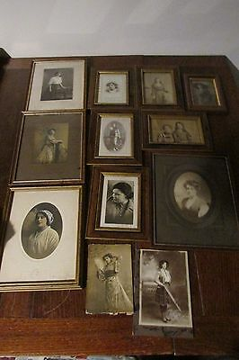 Collection of Twelve Framed Edwardian Photographs Of Unidentified Bath Family