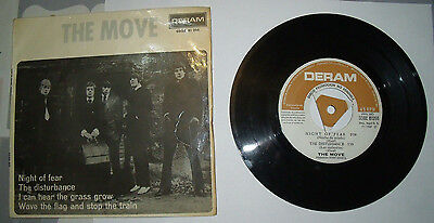 "The Move ""night Of Fear"" Vinyl 7"" Ep, Promo 1967"
